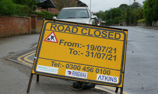 George-Lane-closure-sign