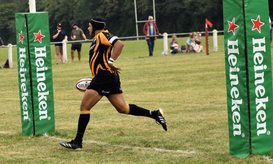 Aaron James (scoring the first try of the new season)