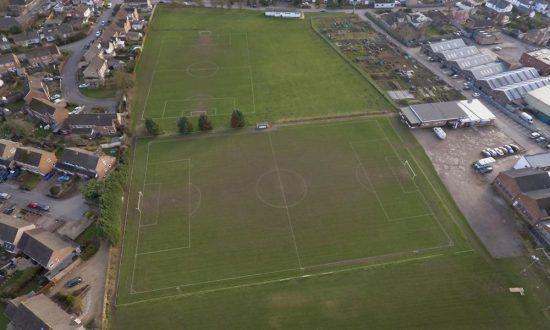 Marlborough Town Football Club ground in Elcot Lane