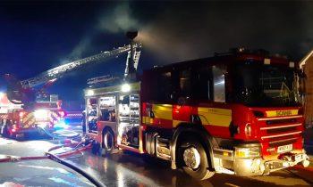 Woodborough school ablaze