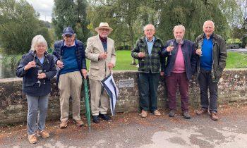 Left to Right Tom and Jill Otley, David Sherratt, John Bevan, Rob Bailey, Brian Devonshire